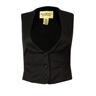 Denim & Supply Women's Shawl Three-Button Vest - Black - xs