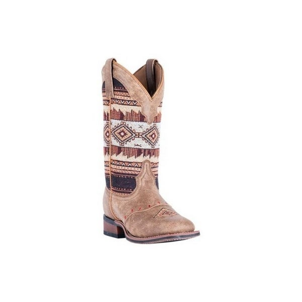 Laredo Western Boots Womens Scout Aztec Broad Square Tan Brown