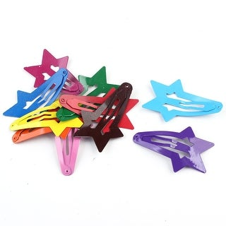 Ladies DIY Star Shape Hairclip Barrette Hair Clip Bobby Pin Multi-color 10 PCS