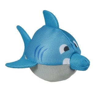"""7"""" Skipperz Blue Inflatable 3-D Fabric Covered Shark Ball Swimming Pool Toy"""