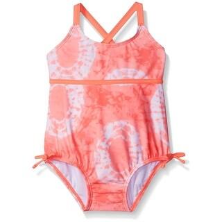 Carter's Girls' One Piece Tie Dye Swimsuit - Orange