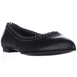 Pour La Victoire Nora Eyelet Studded Ballet Flats - Black