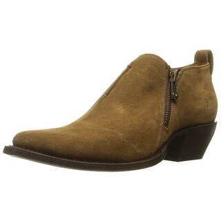 FRYE Womens Sacha Moto Shootie Leather Pointed Toe Ankle Motorcycle Boots