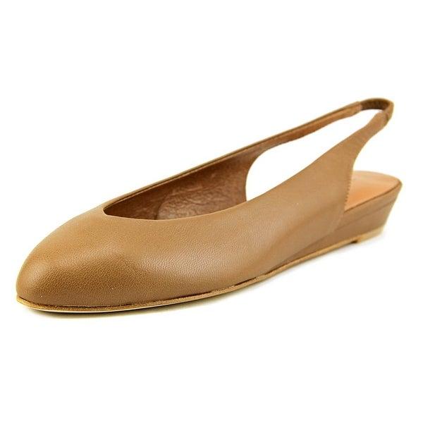 Nina Juniper Women Pointed Toe Leather Tan Flats