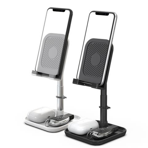 Packard Bell Desktop Adjustable Cell Phone Stand - Tablet, Gadgets Charging Dock - 2 Pack