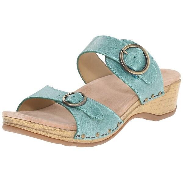b130f40164c6 Shop Dansko Womens Manda Leather Open Toe Casual Slide Sandals ...