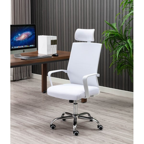Porthos Home Heath Swivel Office Chair, Mesh Back With Head Support