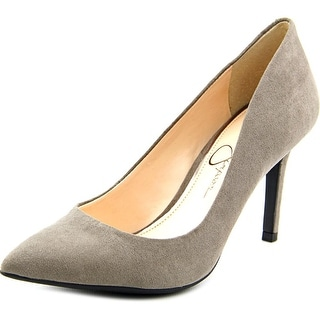 Jessica Simpson Lory Women Pointed Toe Suede Gray Heels
