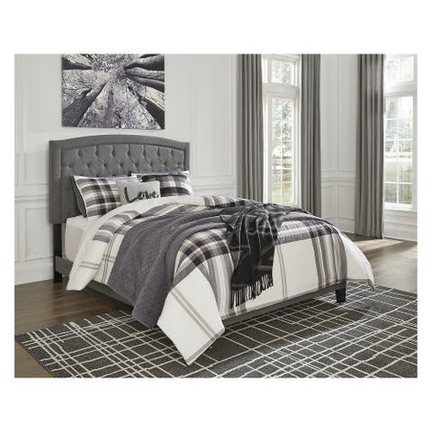 Adelloni Gray Queen Upholstered Bed
