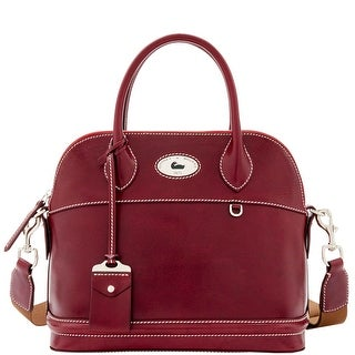 Dooney & Bourke Florentine Toscana Domed Satchel (Introduced by Dooney & Bourke at $448 in Sep 2016) - Bordeaux