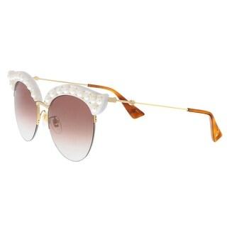 Gucci GG0212S 003 Winter White Winter White Cat Eye Sunglasses - 53-18-140