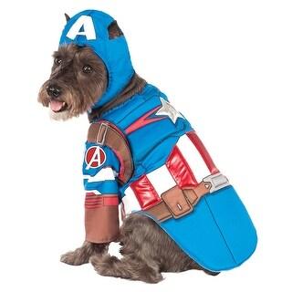 Marvel: Avengers Assemble Deluxe Captain America Pet Costume
