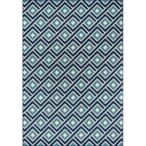 Skyline Decor Blue Baja Rugs in Rectangle Shape - Big