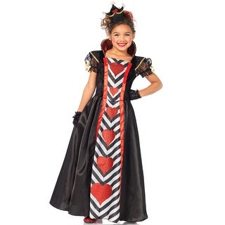 Leg Avenue Wonderland Queen of Hearts Child Costume - Black