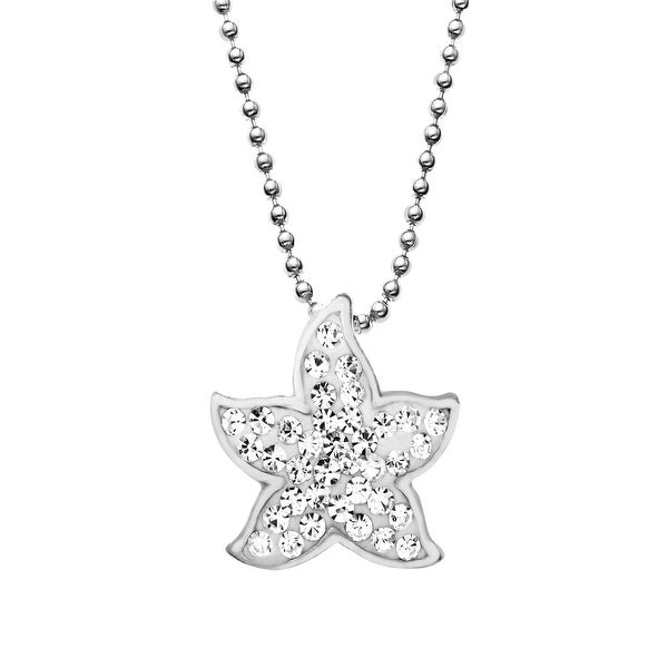 Aya azrielant starfish pendant with swarovski elements crystals in aya azrielant starfish pendant with swarovski elements crystals in sterling silver aloadofball Gallery