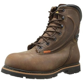 Golden Retriever Mens Leather Steel Toe Work Boots