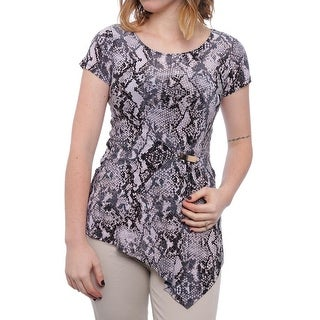 INC International Concepts Cold Shoulder Embellished Top Women Blouse