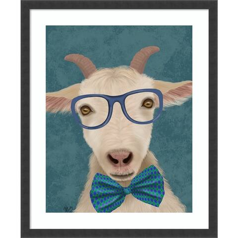 Nerdy Goat by Fab Funky Framed Wall Art Print