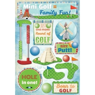 Cardstock Stickers-Mini Golf