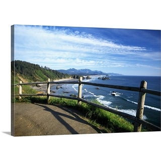 """""""View of coastline from trail, Ecola State Park, Oregon, united states, """" Canvas Wall Art"""