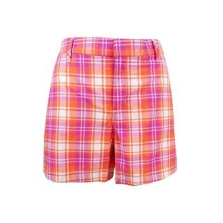Tommy Hilfiger Women's Plaid Hollywood Shorts - cerise multi - 8