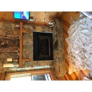 Alexander Home Clayton Faux-cowhide Area Rug