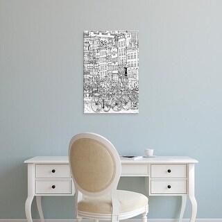 Easy Art Prints Melissa Wang's 'B&W City Scene I' Premium Canvas Art