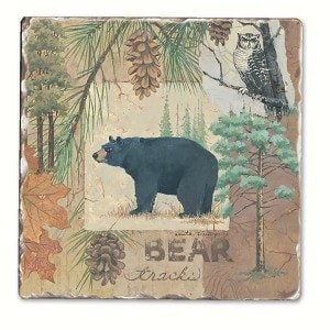 Counter Art Cart11716 Bear Tracks Single Tumbled Tile Coaster Free Shipping On Orders Over 45 21572915