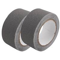 2Pcs Gray Anti-Slip Non-Slip Safety Tape High Traction Indoor Outdoor 50mmx5m