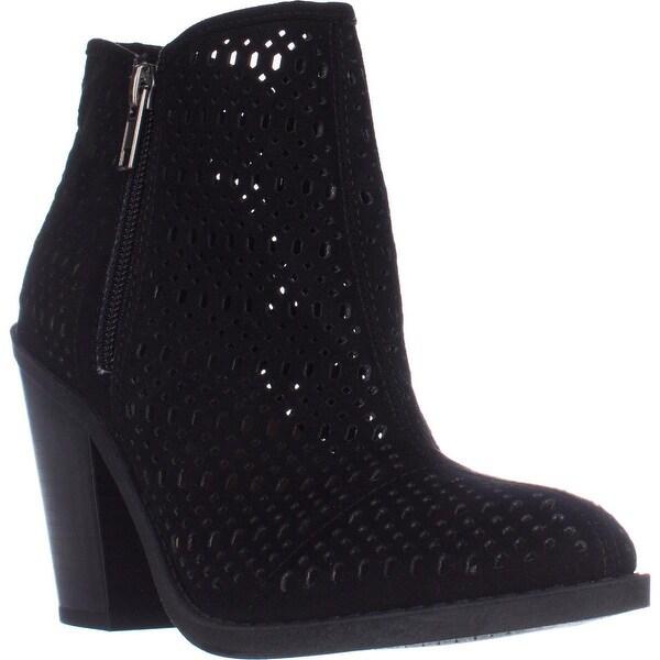 ESPRIT Kay Block-Heel Perforated Booties, Black