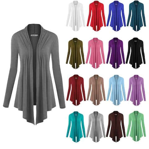 Women's Open Front Knit Cardigan Sweater