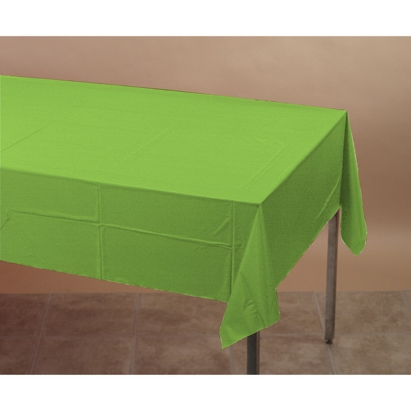 Touch Of Color Plastic Table Cover 54x108 Fresh Lime - Multi