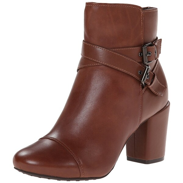 Easy Spirit Womens Patara Leather Almond Toe Ankle Fashion Boots