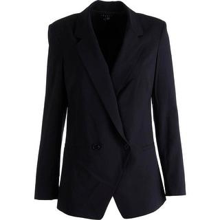 Theory Womens Elkaey W Wool Blend Notch Collar Blazer - 4