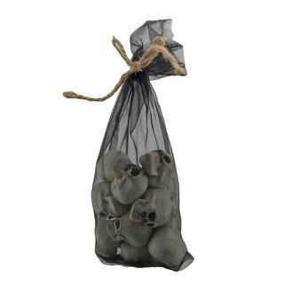 Bag of Bones 12 Piece Set of 1.5 inch Mini Skulls
