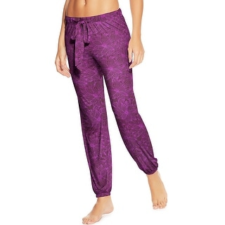 Maidenform Jersey Lounge Pants - Color - Purple Floral - Size - S