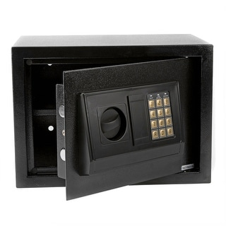 13.7'' Small Size Electronic Digital Steel Safe Strongbox Black