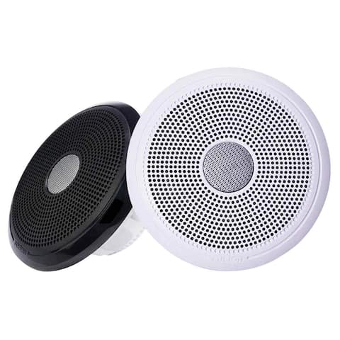Fusion XS-F40CWB XS Series 4Inch 120 Watt Classic Marine Speakers - White and Black Grill Options 010-02199-00 Marine Speakers