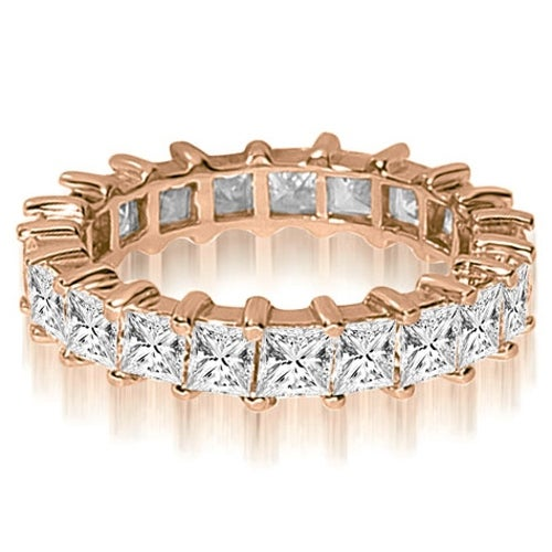 5.00 cttw. 14K Rose Gold Princess Shared-Prong Diamond Eternity Ring