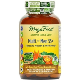 MegaFood - Multi for Men 55+, A Balanced Whole Food Multivitamin, 120 Tablets