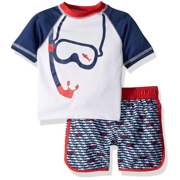 iXtreme Boys 12-24 Months Snorkel Rash Guard Set - Red