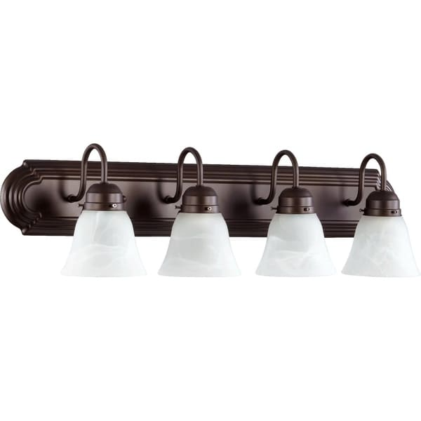 "Quorum International 5094-4 4 Light 30"" Wide Vanity Light with Shades"