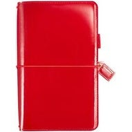 "Patent Red - Color Crush Faux Leather Travelers' Planner 5.75""X8"""