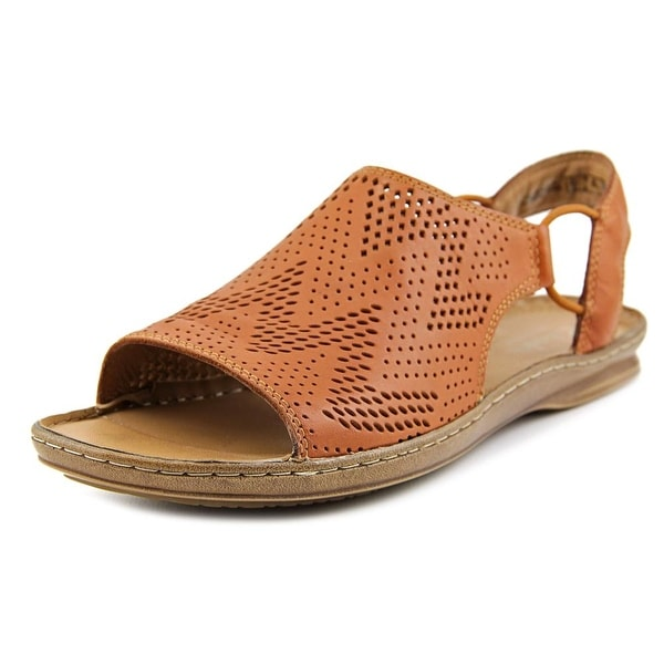 Clarks Artisan Sarla Cadence Women  Open-Toe Leather Tan Slingback Sandal