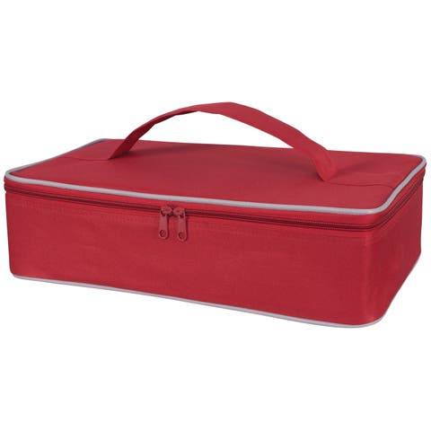 Harold Import 02985RD Insulated Casserole Carrier, Red