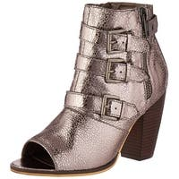 Michael Antonio Womens Maklar-met Peep Toe Ankle Fashion Boots