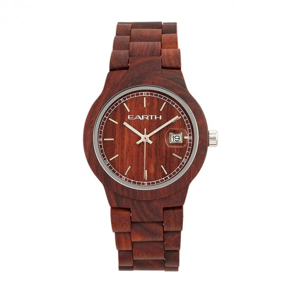 Shop Earth Wood Biscayne Unisex Quartz Watch, Wood Band -7614