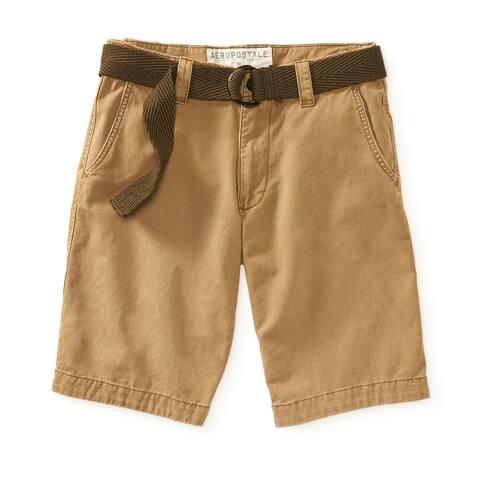 Aeropostale Mens Flat Front Casual Walking Shorts