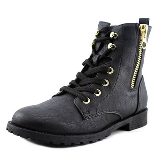 Nina Millee Youth Round Toe Synthetic Black Ankle Boot