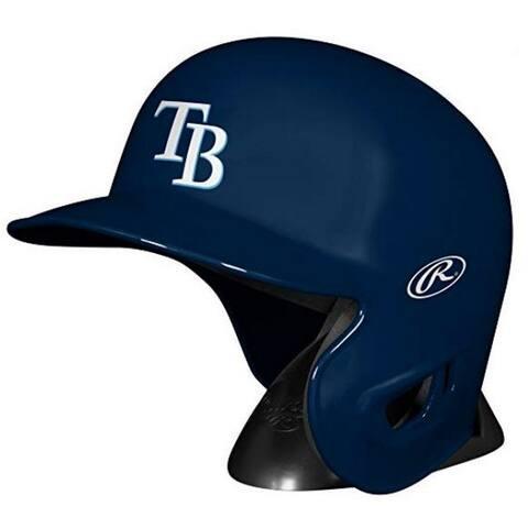 "Rawlings MLB Tampa Bay Rays Mini Helmet Replica Baseball Autographs MLBRL-TB - Navy - 6.75""L x 4.5""W X 5.25""H"